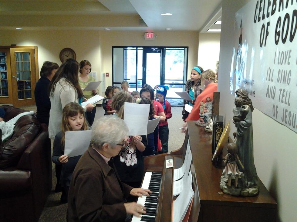 Sunday Christmas Program practice